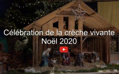 Célébration de la Crèche vivante Noël 2020