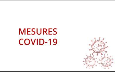 Rappel des directives COVID 19