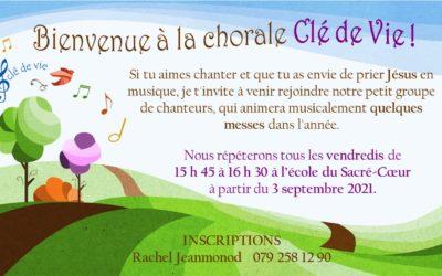 La chorale «Clé de vie» reprend ses activités